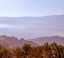 Panorama of the mountains in Corsica by Arja Schrijver