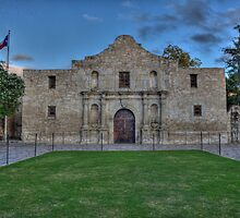 Mission San Antonio de Valero (The Alamo) by Terence Russell