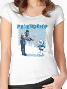 COOL FRIENDSHIP Women's Fitted Scoop T-Shirt