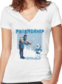 COOL FRIENDSHIP Women's Fitted V-Neck T-Shirt