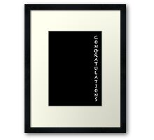 Congratulations Framed Print