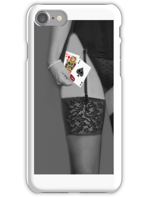 YOUR THE QUEEN OF DIAMONDS HONEY IM THE ACE OF SPADES IPHONE CASE by ✿✿ Bonita ✿✿ ђєℓℓσ