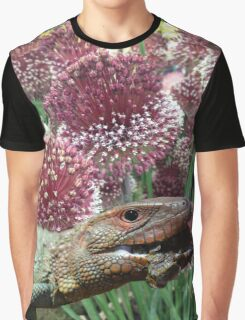 caiman lizard with flowers Graphic T-Shirt