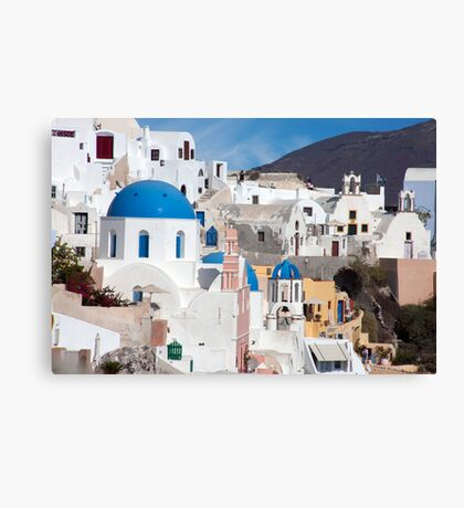 Oia Streetscape Canvas Print