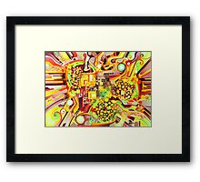 Distortion Sympathy - Watercolor Painting Framed Print