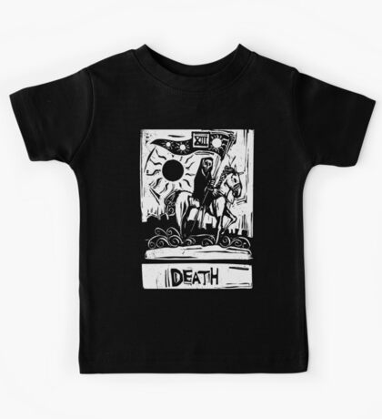 Death Card  - Tarot Cards - Major Arcana Kids Tee