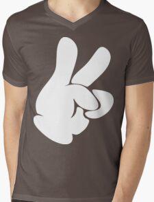Dueces Hand Mens V-Neck T-Shirt