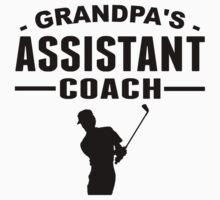 Grandpa's Assistant Golf Coach Kids Tee