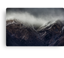 Snow showers on Mount Robert, New Zealand Canvas Print