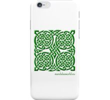Celtic Knot n4 Green iPhone Case/Skin