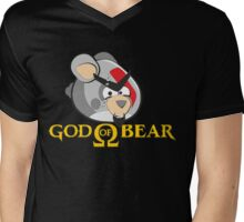 GOD OF BEAR Mens V-Neck T-Shirt