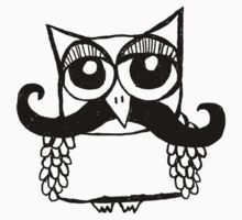 Moustache Owl by annieclayton