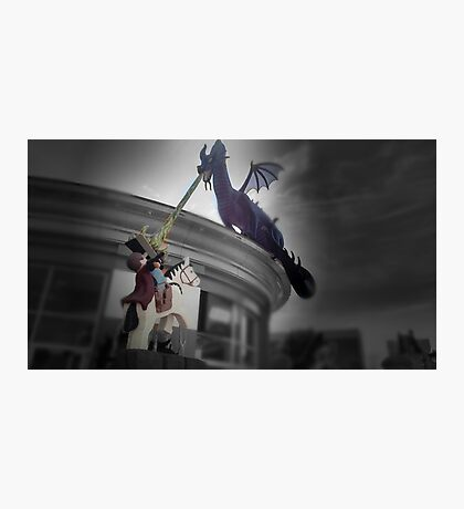 Maleficent and Prince Phillip made from LEGOS Photographic Print