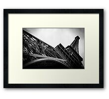 Travel BW - Paris Eiffel Tower II Framed Print