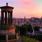 Edinburgh in Sunset by Irina Chuckowree