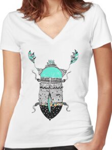 Diamond Cockroach  Women's Fitted V-Neck T-Shirt