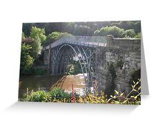 The Worlds first Ironbridge. Greeting Card
