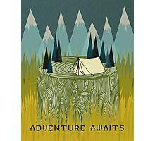 Adventure Awaits - Quote Art Photographic Print