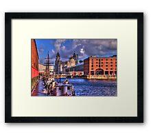 Albert Docks - Liver Building Framed Print