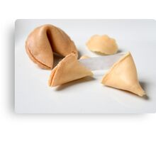Fortune Cookie on white background  Canvas Print