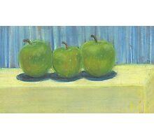 3 Green Apples Photographic Print