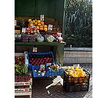 The fruit & veg stall Photographic Print
