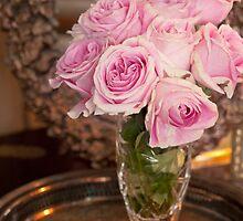 ...classic pink roses.......... by Jane Anastasia Studio