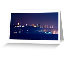 A Different Silhouette of Istanbul Greeting Card