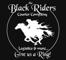 Black Riders Courier Company (white version) Kids Tee