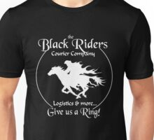 Black Riders Courier Company (white version) Unisex T-Shirt