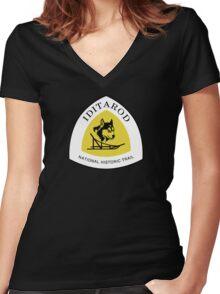 Iditarod Trail Sign, Alaska, USA Women's Fitted V-Neck T-Shirt
