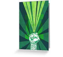 Green Lantern's light Greeting Card