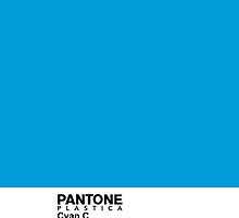 Pantone Plastica Cyan C iPhone case by Plastica Tees