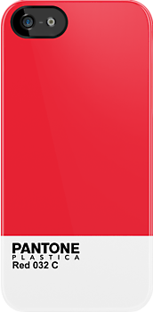 Pantone Plastica Red 032 C iPhone case by Plastica Tees