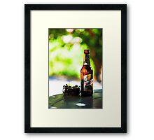 Siesta Time. Beer and Olives Framed Print