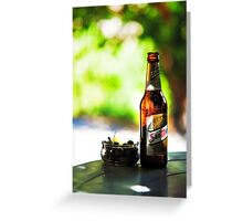 Siesta Time. Beer and Olives Greeting Card