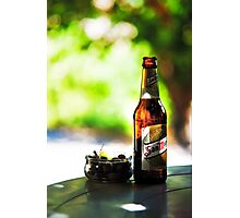 Siesta Time. Beer and Olives Photographic Print