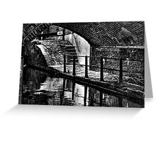 Lock 83 Ancoats,Rochdale Canal Greeting Card