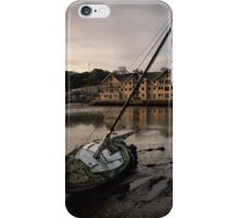 Abandoned on the river. iPhone Case/Skin