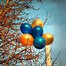 Balloons in a tree by Asrais