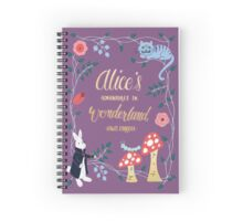 Alice's Adventures in Wonderland Spiral Notebook