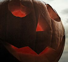 jack-o-lantern close-up by Ms-Bexy