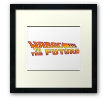 WABAC TO THE FUTURE Framed Print