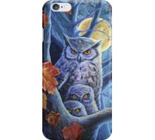 Harvest Moon Owls iPhone Case/Skin