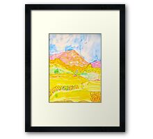 The Ledge in Silverado Canyon Framed Print