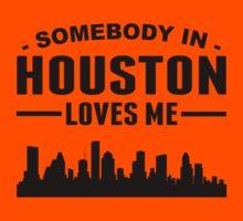 Somebody In Houston Loves Me Kids Tee