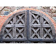 Old doors in Trakai castle - Lithuania Photographic Print
