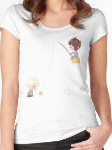Chibi Drarry - Fishing Women's Fitted Scoop T-Shirt