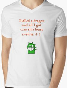 Lousy t-shirt +1 Mens V-Neck T-Shirt