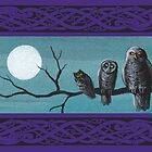 Spooky Halloween Owls by katemccredie